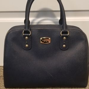 Authentic Michael Kors navy blue satchel
